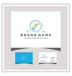 Letter v sun logo design and business card vector