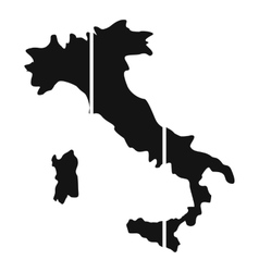 Map of Italy icon simple style vector