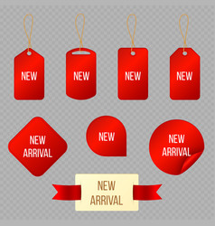new arrival product special labels stickers and vector image