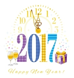 New Year 2017 poster template design vector image