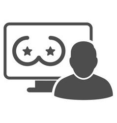 Online erotics censored user flat icon vector