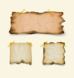 Paper for notes isolated on white background vector