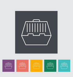 pet carrier icon vector image