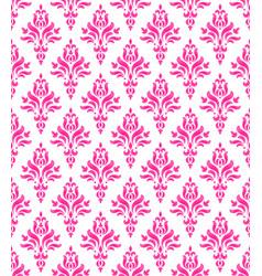 pink floral wallpaper vector image