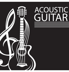 poster with guitar vector image