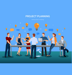 project planning vector image