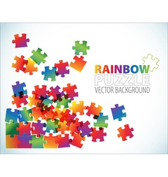 rainbow puzzle background vector image