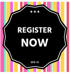 Register now button vector