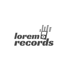 rock guitar party label badge emblem logo vector image