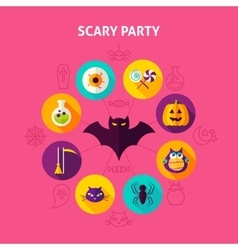 Scary Party Infographic Concept vector image