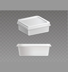 Sealed plastic container for food products vector