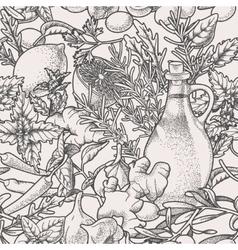 Seamless herbs vector