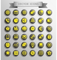 Set of web vector image