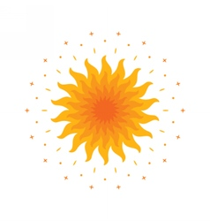 Shining magic sun mandala vector