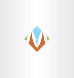 Sign m letter m icon design vector