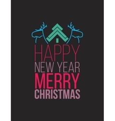 Simple Christmas poste flat design vector image