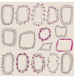 sketch frames hand drawing for your design vector image