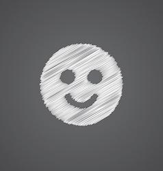 smile sketch logo doodle icon vector image