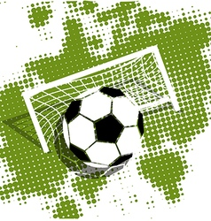 Soccer ball on a green background vector image