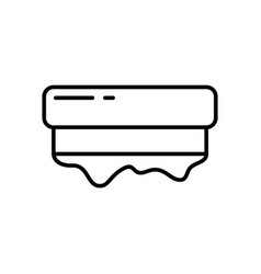 Squeegee with dripping paint for screen printing vector