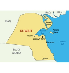 State of Kuwait - map vector image