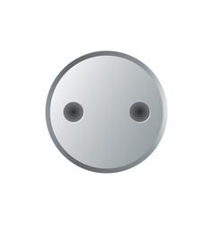 Steel socket bolt head isolated on white vector