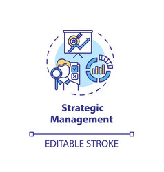 Strategic management concept icon vector