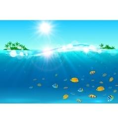 Summer vacation tropical ocean island vector
