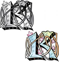 tattoo letterK vector image
