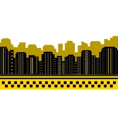 taxi background with urban landscape vector image
