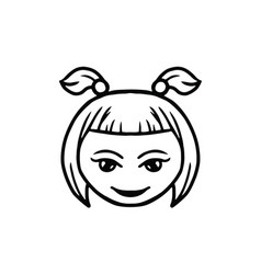 thin line smile face icon vector image