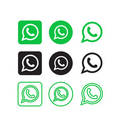 whatsapp social media icons vector image