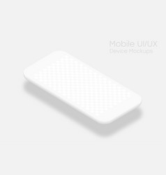 White smartphone mockup with transparent screen vector
