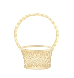Wicker basket on white background vector