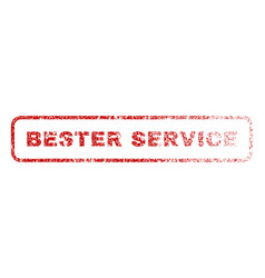 bester service rubber stamp vector image vector image
