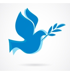 dove with the olive bench vector image vector image
