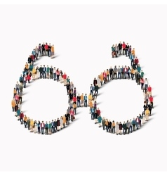 group people shape glasses vector image