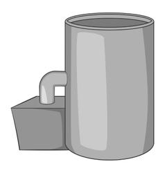 Oil refinery plant icon gray monochrome style vector image vector image