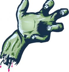 severed halloween style hand illustrat vector image