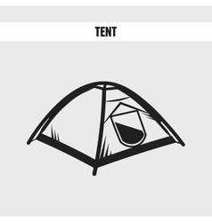 camping tourist tent vector image