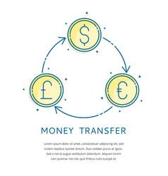 currency exchange logo vector image