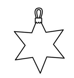 figure sticker start icon vector image