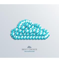 modern computer cloud design vector image