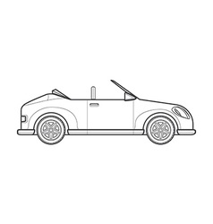 outline cabriolet roadster car body style icon vector image