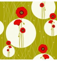 poppy seamless vector image vector image