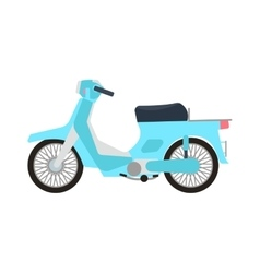 Retro motorbike isolated vector image