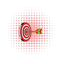 Target icon comics style vector image vector image