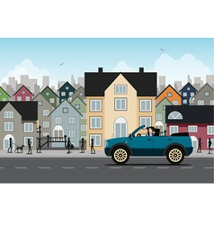 City driving vector image vector image