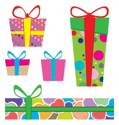 Colorful box packaging Packaging Design and vector image vector image
