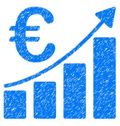 euro bar chart grunge icon vector image